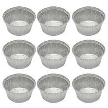50 шт., 285 мл, миски из фольги, алюминиевая фольга, Круглый одноразовый лоток для барбекю, пирог, сковородки для домашних тортов, Пирогов без крышки