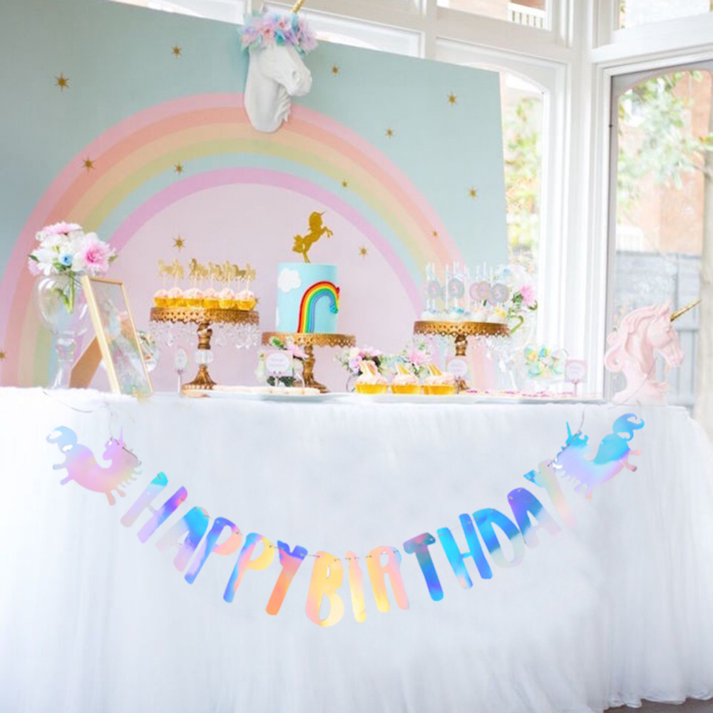 1st Birthday Party Foil String Hanging Ceiling Door Decorations Baby Girl Or Boy Party Decorations Home Garden