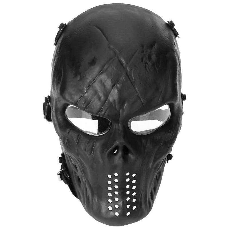 Shock Resistant PC Lens Skull Paintball Games CS Field Face Protection Mask Party Cycling Full Face Mask Festival Accessories image