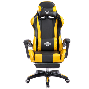 Reclining Office Chair With Footrest Lifted Rotated E-sports Gaming Chair Household Multi-function Computer Chair With Massage portable multifunction tattoo chair cosmetology manicure lifted stool rotated barber chair with footrest office staff stool
