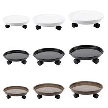 Removable Flower Pot Tray Universal Wheels Round Plastic Heavy Duty Rack Plant Caddy Rolling Potted Stand