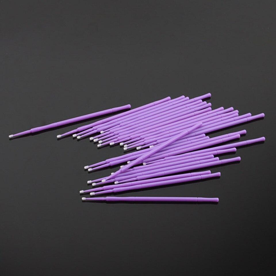 400Pcs eyelash Disposable Micro Brush makeup Brushes eyelash extensions Applicators Mascara Removing False eyelashes Cotton Swab 3