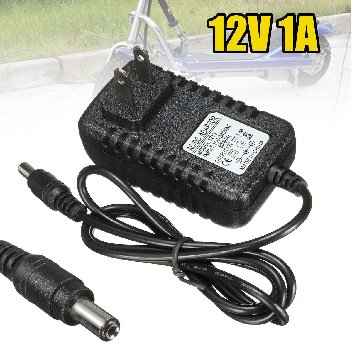 Cables, Adapters & Sockets Car Electronics 1pcs Black Ac/dc Adapter 12v 1a Battery Charger For Kids Atv Quad Ride On Cars Motorcycles Finely Processed
