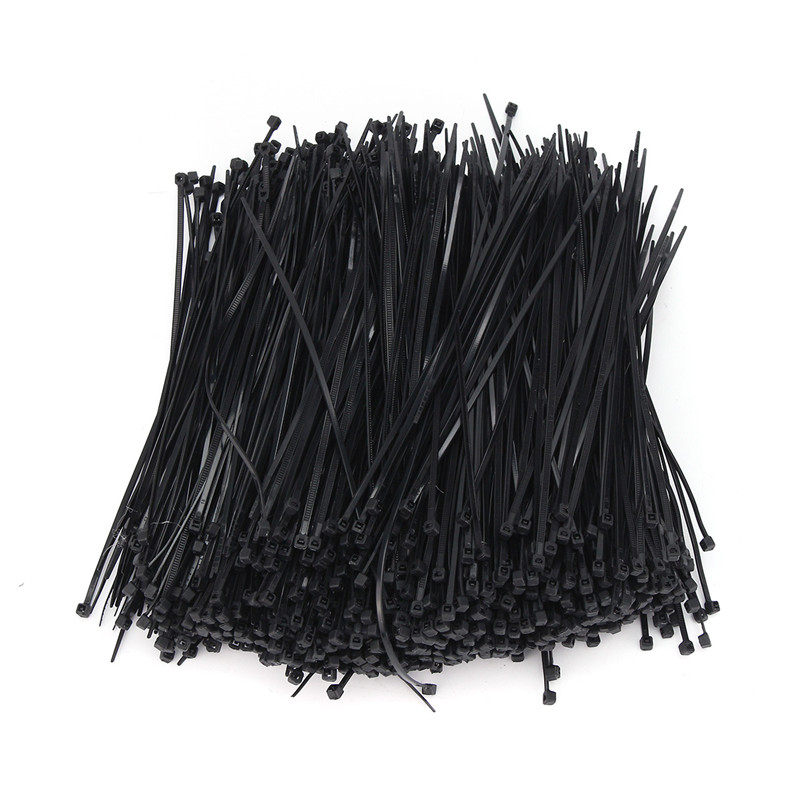 Nylon Plastic Zip Trim Wrap Cable Loop Ties Wire Self-Locking 8inch 50pcs 200mm