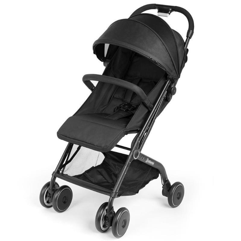 Poussette bébé légère à une main pliable avion + moustiquaire + tapis Cool landau pliable Portable poussette enfants pliant enfant
