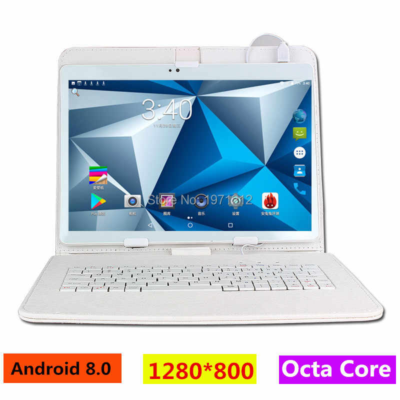 10 Inch 3G 4G LTE Tablet PC Octa Core 1280*800 5.0MP 4 GB 128 GB Android 8.0 Bluetooth GPS Tablet 10 dengan Keyboard