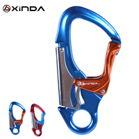 Aluminum Alloy Dual Lock Captive Eye Snap Hook Carabiner for Rock Climbing Arborist Rescue 30KN for rappelling Rock Climbing