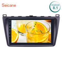 9 2din Bluetooth GPS Stereo Seicane Android 8.1/7.1 1024*600 touchscreen FM Car Radio for Mazda 6 Rui wing Support DVR DAB+