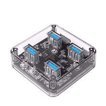 ORICO MH4U 4 Порты USB3.0 прозрачный Рабочий стол концентратор с резиновой противоскользящей панелью с внешним Питание
