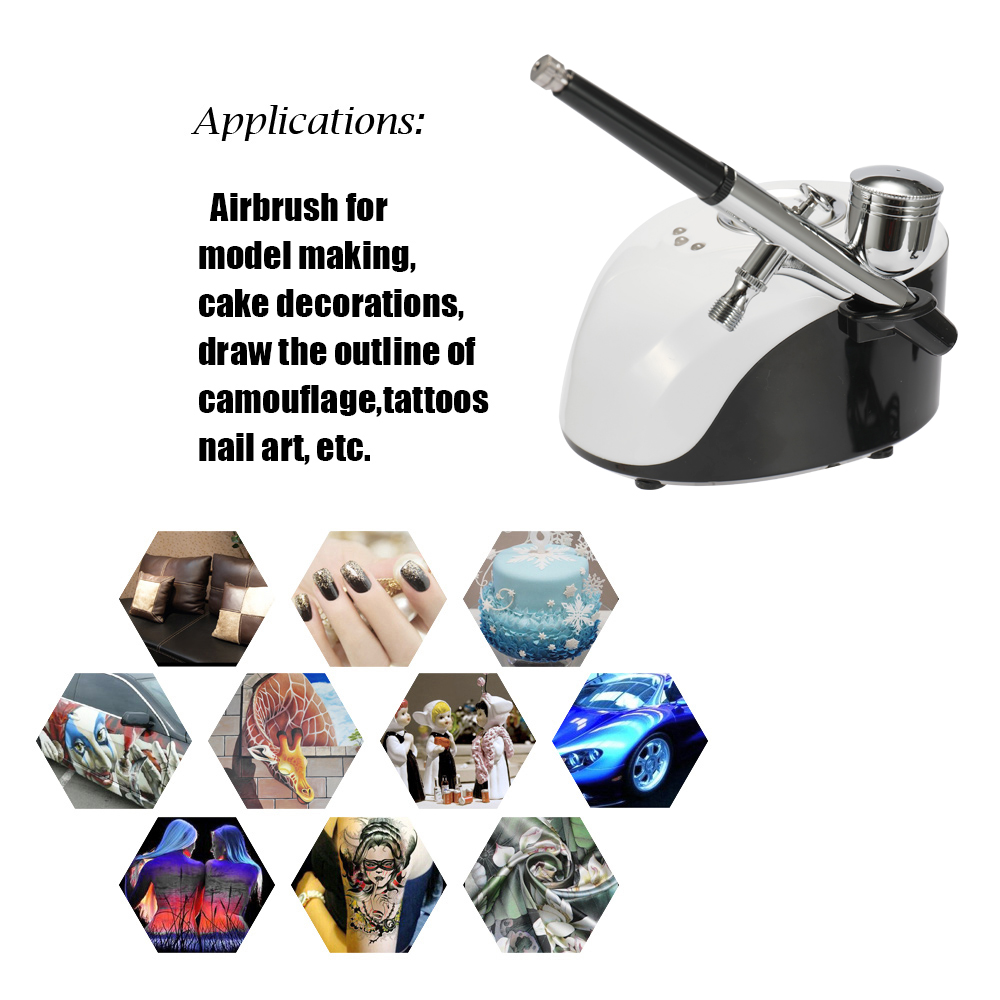 Portable Spray Pump Pen Air Compressor Set for Makeup Art Painting Craft Cake Spray Model Beautiful Airbrush Kits in Spray Guns from Tools