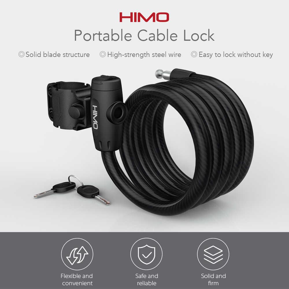Xiaomi Himo L150 Portable Anti-Theft Lipat Kunci dengan 150 Cm Baja FLEX Kabel dan 2 Kunci untuk Listrik sepeda