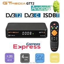 GTMEDIA GTT2 DVB-T2/C Amlogic S905D DDR3 2 GB 8 GB 1080 p Android 6,0 ТВ коробка сигнал бесплатная H.265 Встроенный Wi-Fi 2,4G для Германия, Италия
