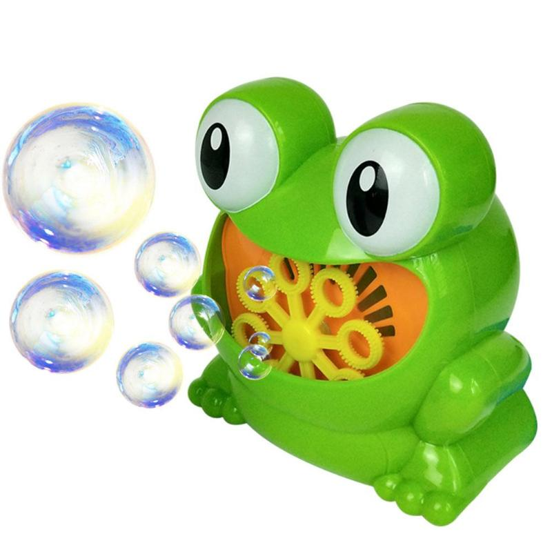 Automatic Bubble Machine Cute Cartoon Animal Crab Bubble Frog Hippo Blower Maker Kids Funny Interactive Summer Bath Outdoor Toys