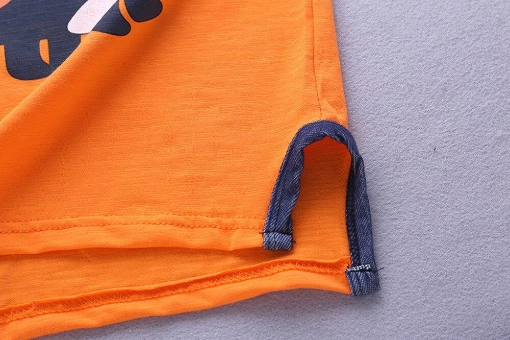 Baby Boys Kids Summer Short Sleeve Dinosaur Tracksuit Sport Suits Clothes Sets L