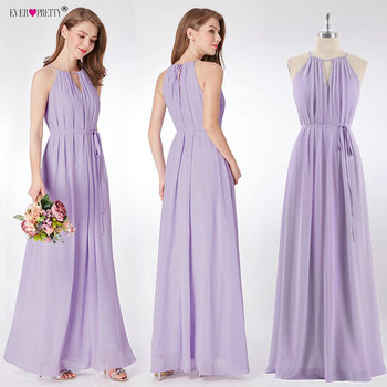 Purple Bridesmaid Dress 2019 New Elegant A-line Chiffon Sleeveless Wedding Guest Dress Ever Pretty Bruidsmeisjes Jurk Women Bridesmaid Dresses and Gowns