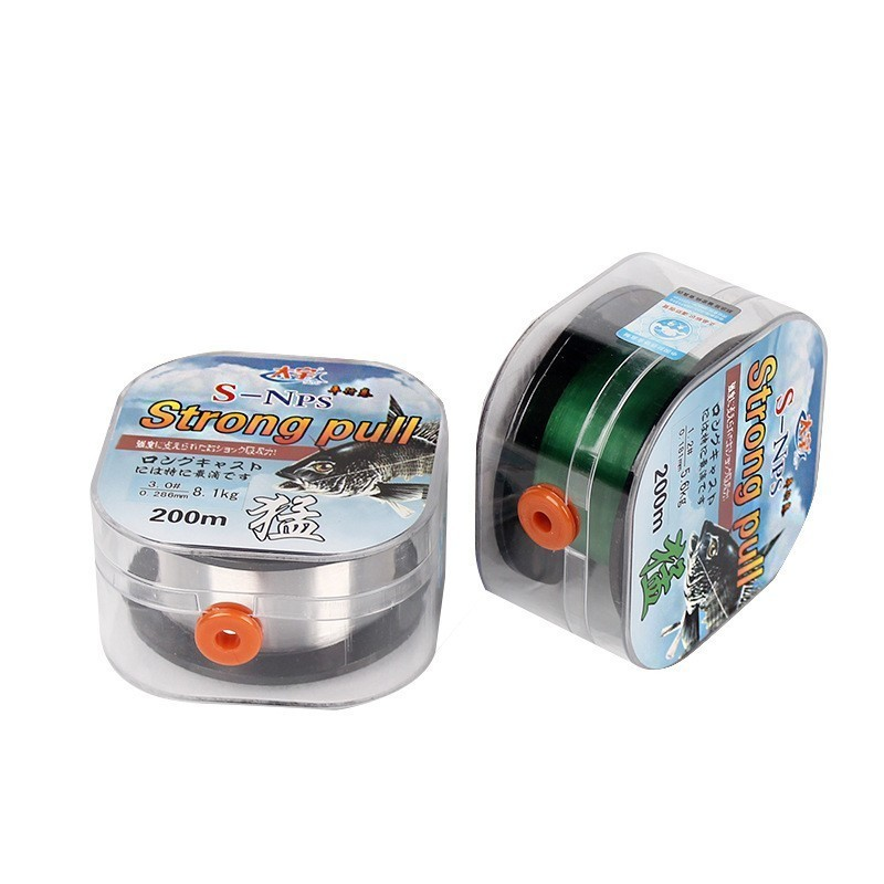 200M Japan Fishing Line Fluorocarbon Coating Strong Swimming Mainline Tippet 0.1mm-0.6mm Wear Resistant Standard Wire Diameter