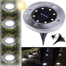 Solar Powered Ground Light Waterproof Garden Pathway Deck Lights With 8 LEDs Lamp for Home Yard Driveway Lawn Road D25