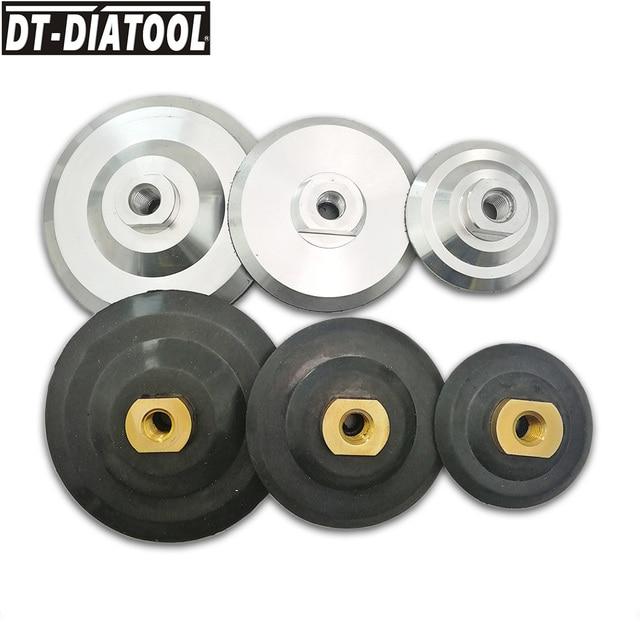 "2pcs/pk 80mm/100mm/125mm Back Pad for Diamond Polishing Backer Pads M14 or 5/8-11 Thread 3"" 4"" 5"" Grinding Discs Backing Holder"