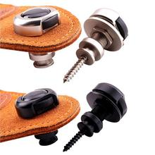 2pcs Zinc Alloy Guitar Strap Lock Button Non-slip Electric Acoustic Bass Nail Locks for Guitarra Players