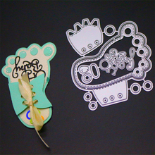 YINISE074 BABY FOOT CUTS Metal Cutting Dies For Scrapbooking Stencils DIY Album Paper Cards Decoration Embossing Folder Die CUT