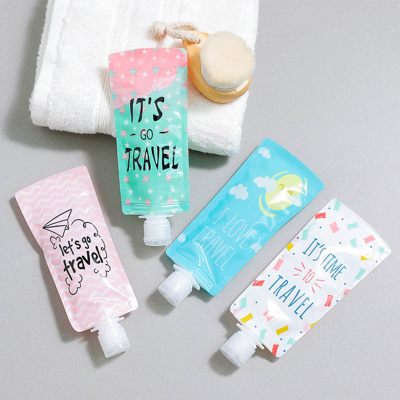 Shower Shampoo Bottle Portable Makeup Containe 1PC Empty Mini Plastic Travel Supplies Lotion Separating Storage Bag