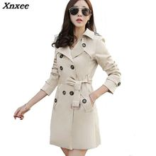 c272a5aa1a81 Xnxee Trench Coat For Women Double Breasted Slim Long Spring Casaco  Feminino Abrigos Mujer Autumn Outerwear Female Overcoat .