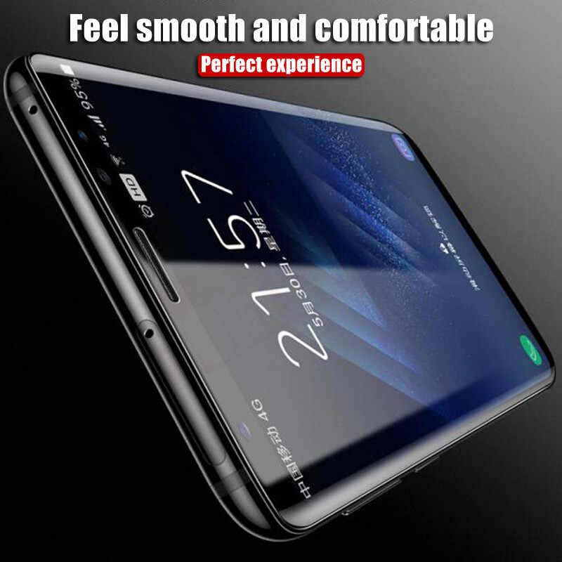 8D غطاء كامل لسامسونج غالاكسي نوت 8 S8 S9 واقي للشاشة لينة هيدروجيل فيلم لسامسونج S9 S8 S7 S6 حافة زائد لا الزجاج
