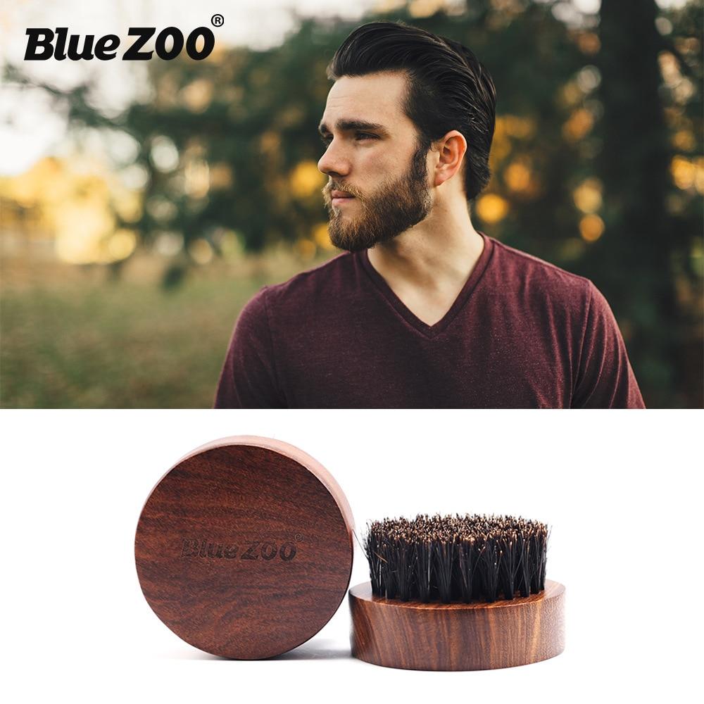 New Arrival Beard Brush Beard Comb Men Facial Beard Cleaning Appliance Barber Salon Shave Tool Razor Brush with Wood Handle