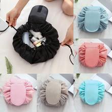 New Fashion Women Portable Drawstring Toiletry Bag Lazy Makeup Bag Quick  Pack Waterproof Travel Organizer pouch Cosmetic Bags e8da5336cbcd2