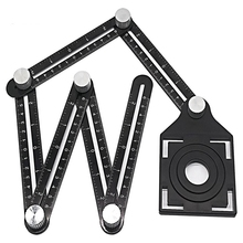 조정 가능한 각도 눈금자 드릴 가이드 유리 타일 도구 목공 게이지 측정 도구 슬라이드 눈금자 접이식 눈금자 각도기