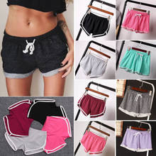Frauen Mädchen Solide Lose Baumwolle Casual Lose Lauf Sport Shorts Gym Jogging Bund Sommer Shorts(China)