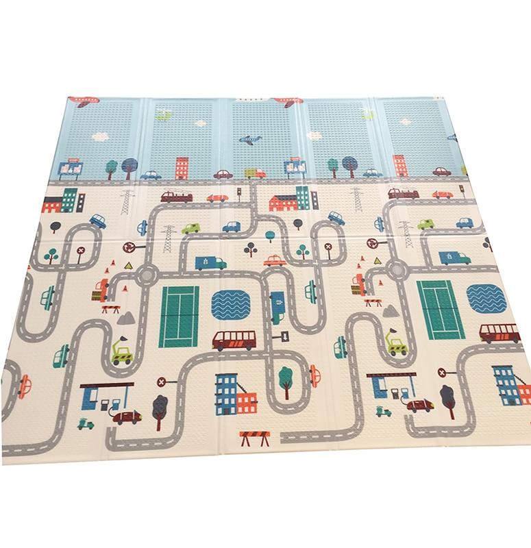 1 cm épais pliable bébé jouer tapis XPE enfant tapis escalade route Pad mousse Pad environnement insipide jeu couverture jouets