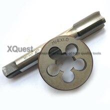 1 jeu de robinets métriques et de matrices HSS, M14 M14X1.5 M14X1.25 M14X1 14X0.75, matrices à découper de filetage fin, robinets à main droite M14X0.5 M14X2