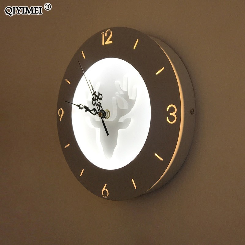 22W Wall Lamps with clock function acrylic lampshade Sconce Light for Living Room Bedroom Bedside Aisle home decorate wall light22W Wall Lamps with clock function acrylic lampshade Sconce Light for Living Room Bedroom Bedside Aisle home decorate wall light