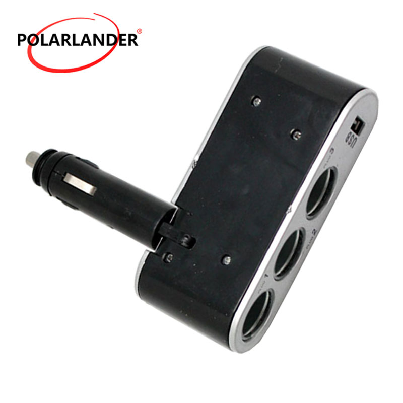Socket Plug Splitter Power <font><b>Charger</b></font> Auto Socket <font><b>Adapter</b></font> <font><b>3</b></font> <font><b>Port</b></font> Way 12V For Universal <font><b>USB</b></font> <font><b>Car</b></font>-<font><b>Charger</b></font> With Power Indicator image