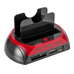 Newst Đôi Dock Ổ Cắm HDD HDD 2.5 Inch 3.5 Inch Sata IDE Trung Tâm Lưu Trữ Bên Ngoài Kèm Hộp Cao Cấp HDD đế Cài