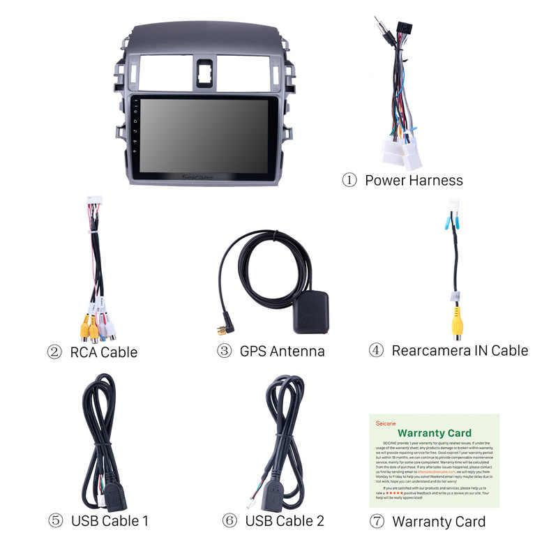 Seicane 9 インチのアンドロイド 8.1 2Din 車ラジオクアッドコア WIFI の Bluetooth マルチメディアプレーヤー 2007 2008 2009 2010 トヨタ旧カローラ