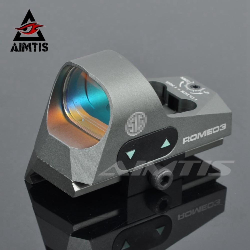 AIMTIS ROMEO3 1x25 Mini Reflex Sight 3 MOA Dot Scope Picatinny QD Mount Tactical Red Dot