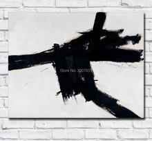 Large Size Oil Painting Franz Kline Buttress 1956 Wall Art Canvas Paintings Pictures for Living Room and Bedroom No Frames