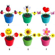 Wholesale Fashion Solar Powered Dancing Flower Toy Office Desk & Car Decor Funny Electric Toys for Kids Christmas Gift