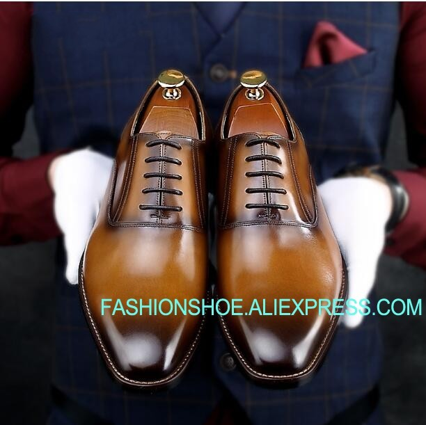 Handmade Men Dress Shoes Genuine leather Formal Business Shoes Male Oxfords genuine leather heightening elevated oxfords men s formal business boots elevator 3 15 inches