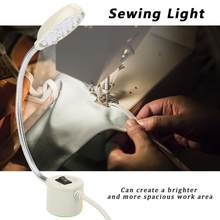 1W Sewing Machine Lamp LED Sewing Working Light Adjustable Magnetic Base Table Lamp110V-240V Industrial Lamp For Sewing Machine(China)