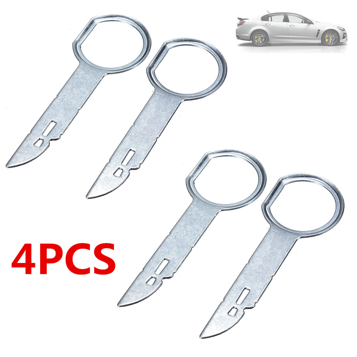 2/4pcs Keys For Car Repair Car CD Stereo Radio Removal Release Sheet Metal Tool Keys Pins Car Tool For VW For Audi For Mercedes