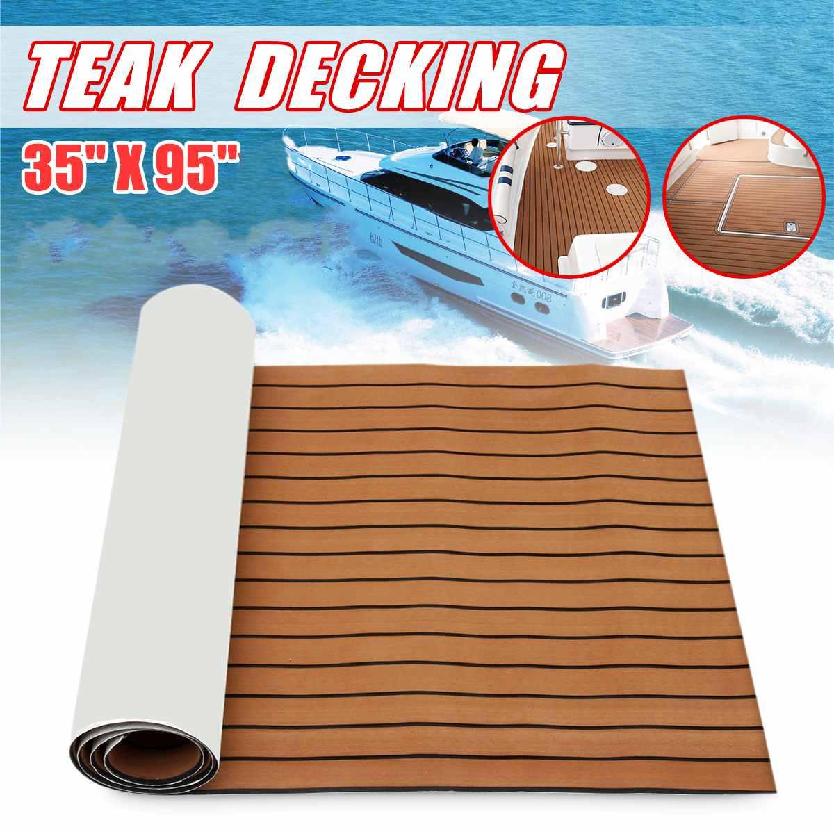 Self-Adhesive 2400x900x5.5mm Marine Boat Synthetic Flooring EVA Foam Yacht Teak Decking Sheet Car Carpet Floor MatSelf-Adhesive 2400x900x5.5mm Marine Boat Synthetic Flooring EVA Foam Yacht Teak Decking Sheet Car Carpet Floor Mat