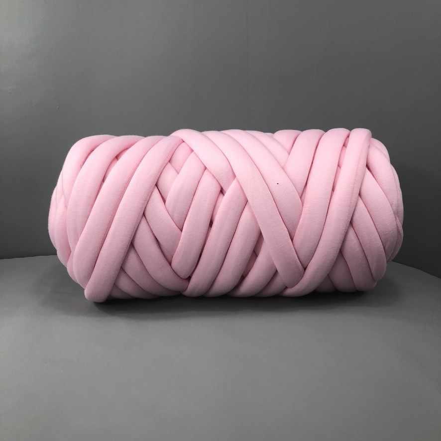 Супер крупная пряжа, хлопчатобумажная пряжа, ручная вязка, веганская пряжа, гигантская громоздкая пряжа, большая хлопковая пряжа, пряжа, массивное вязаное одеяло, коса из мериносовой шерсти, 25 м