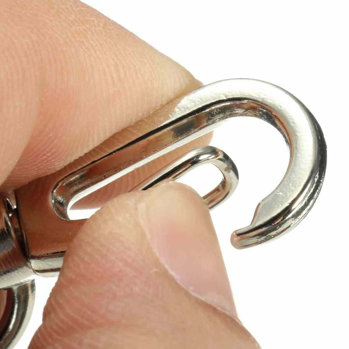 Kicute retráctil tirón llavero ID insignia cordón nombre etiqueta titular de la tarjeta carrete cinturón Clip accesorio hebilla acero inoxidable