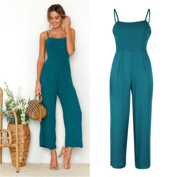 Women Casual Bodysuits Womens Fashion Slim Sleeveless Pants Suspender Trousers Jumpsuit Casual Rompers 4