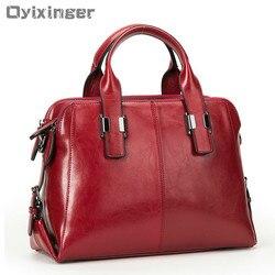 Женские сумки из натуральной кожи, роскошные сумки с двойной молнией, дизайнерские сумки на плечо из натуральной воловьей кожи