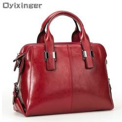 Echtes Leder Frauen Totes Luxus Handtaschen Doppel-reißverschluss Design Damen Schulter Taschen Designer Echt Rindsleder Handtasche Sac EIN Haupt