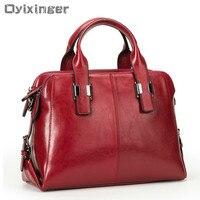 Genuine Leather Women Totes Luxury Handbags Double Zipper Design Ladies Shoulder Bags Designer Real Cowhide Handbag Sac A Main